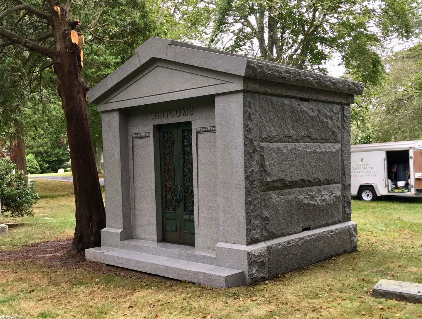 mausoleum after being cleaned